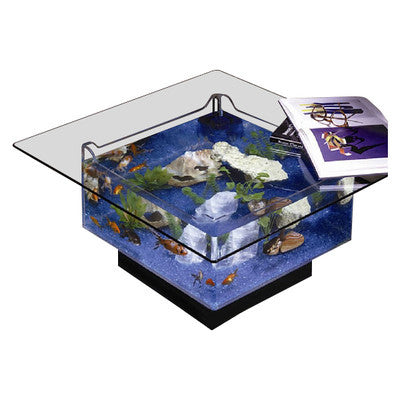 Modern square aquarium tank table - Clever and Modern gadgets and furniture for your home and office.