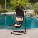 Coulston Wicker Swing Chair with Stand