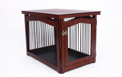 2-in-1 Covertable Pet Crate, Gate and End Table