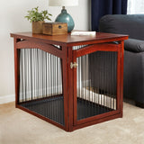 2-in-1 Covertable Pet Crate, Gate and End Table - Clever and Modern Home and office furniture. Pet Furniture