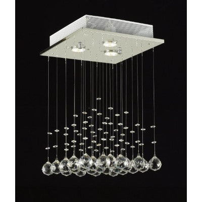 Elegant Crystal Chandelier with 3 LED Lights - Clever and Modern Home and office furniture. Pet Furniture
