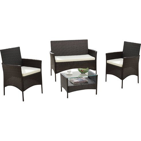 Forest Lane 4 Piece Rattan Patio Set