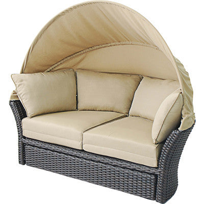 Grand Cayman Patio Daybed/Loveseat With Ottoman