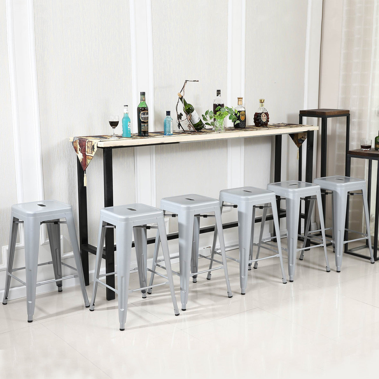 Clayton Gray 30'' Bar Stool  (Set Of 6)