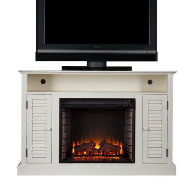 hammond media console with electric fireplace clever and modern home and office furniture pet