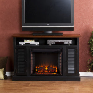 Hammond Media Console With Electric Fireplace - Clever and Modern Home and office furniture. Pet Furniture