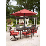 Hampton Bay Middletown 7-Piece Patio Dining Set With Chili Cushions