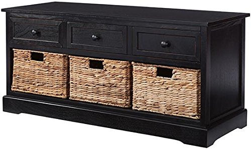 3-Drawer and  3-Basket Storage Bench - Clever and Modern Home and office furniture. Pet Furniture