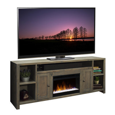 "Indigo Media Console With Electric Fireplace (84"") - Clever and Modern Home and office furniture. Pet Furniture"