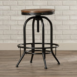 Industrial Adjustable Height Swivel Bar Stool (Set of 2)
