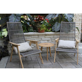 Italian Teak and Wicker Basket Lounge Chair - Clever and Modern Home and office furniture. Pet Furniture