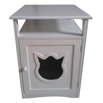 White Kitty Cat Litter Box - Clever and Modern Home and office furniture. Pet Furniture