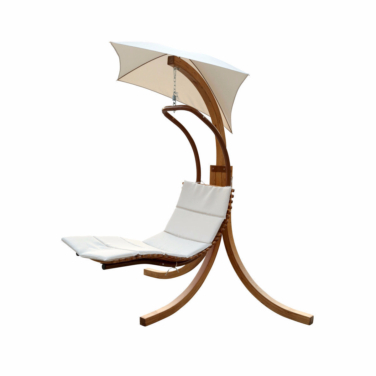 Alison White Outdoor Hanging Chaise Lounger with Stand - Clever and Modern Home and office furniture. Pet Furniture