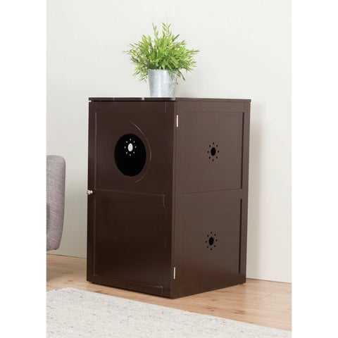 Modern Brown Cat Litter Box or Indoor Pet House - Clever and Modern Home and office furniture. Pet Furniture