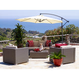 Luxury Patio 5 Piece Seating Group With Cushion And Umbrella