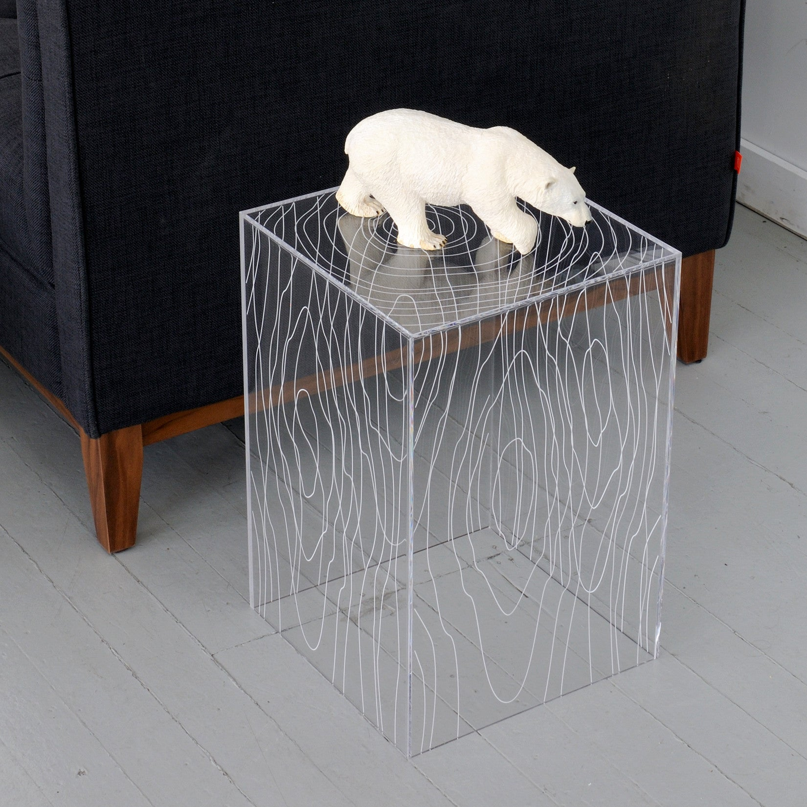 Magical Clear End Table - Clever and Modern Home and office furniture. Pet Furniture