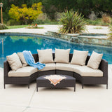 Media Luna Outdoor Patio Set For 6 And Coffee Table - Clever and Modern Home and office furniture. Pet Furniture