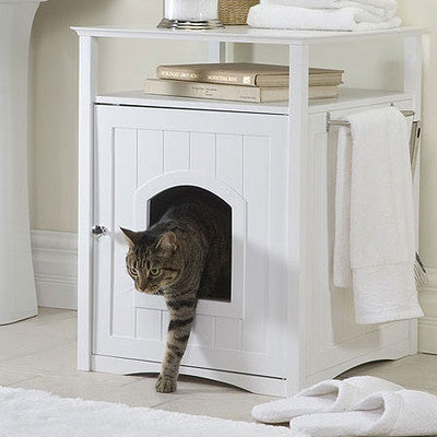 Hidden Litter Box End Table - Clever and Modern gadgets and furniture for your home and office.
