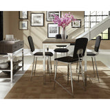 Modern Wood And Chrome 5 Piece Dining Set