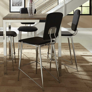 Modern Wood And Chrome 5 Piece Dining Set - Clever and Modern Home and office furniture. Pet Furniture