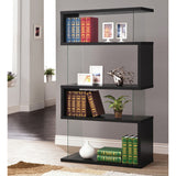 Modern Bookshelf made of Wood and Glass - Clever and Modern gadgets and furniture for your home and office.