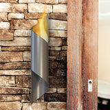 Modern Torch Fireplace Wall Decor