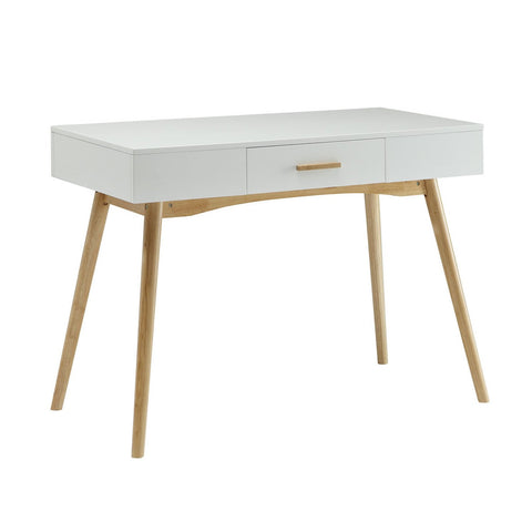 Modern White Writing Desk with wood legs - Clever and Modern Home and office furniture. Pet Furniture