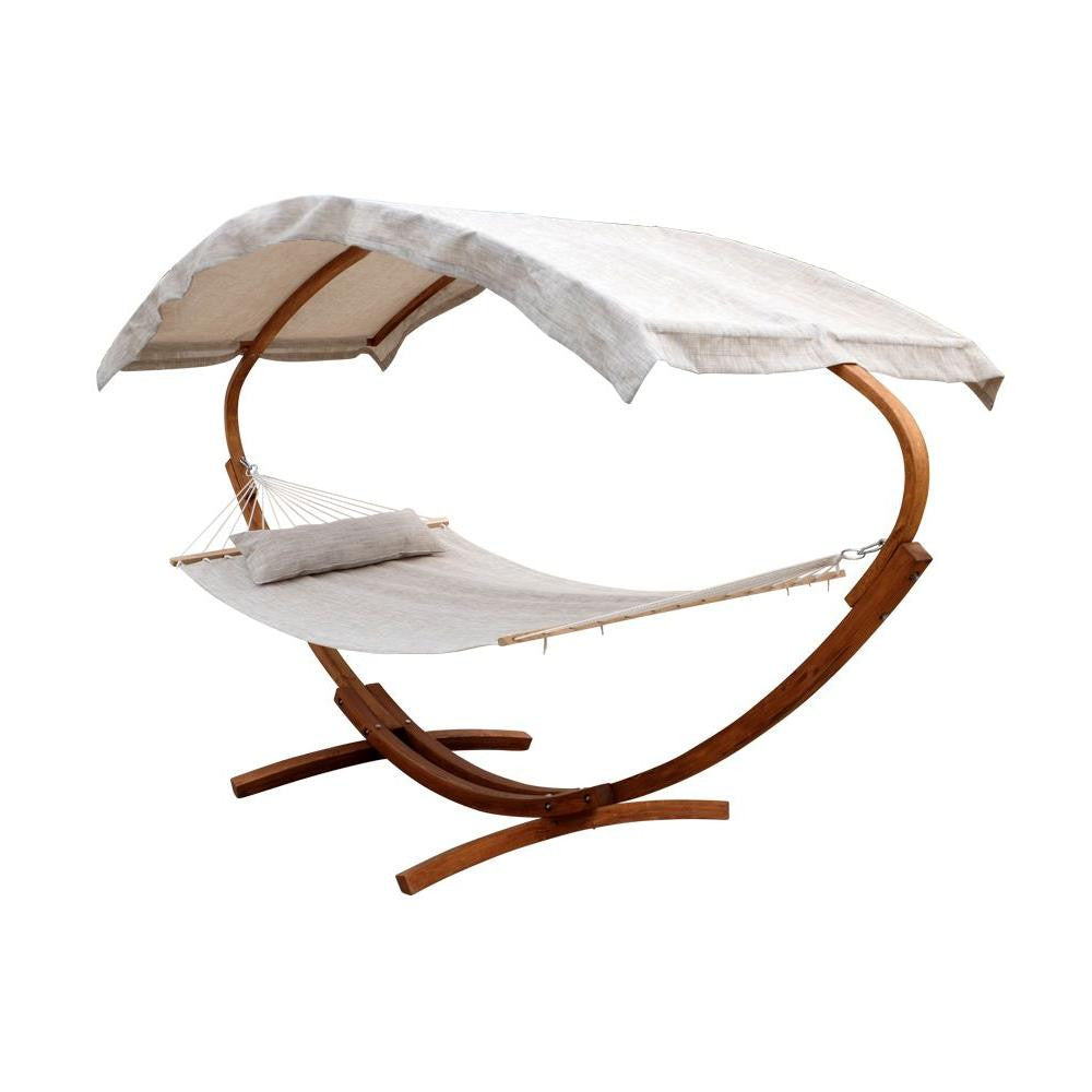Modern Woden Hammock with Stand and Canopy - Clever and Modern Home and office furniture. Pet Furniture