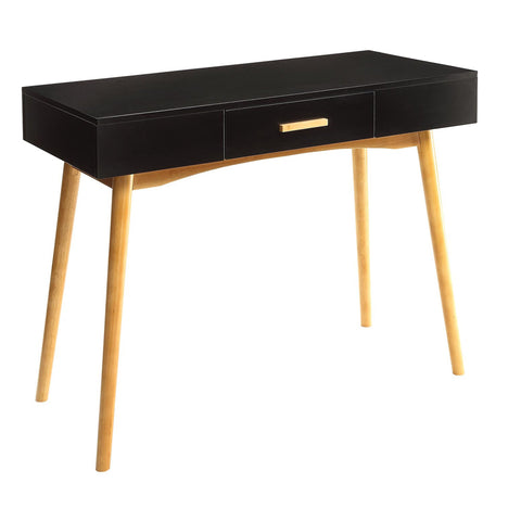 Modern Black Writing Desk with wood legs - Clever and Modern Home and office furniture. Pet Furniture