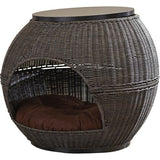 Rattan End Table Pet Bed