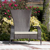 Tara Outdoor Wicker Adirondack Chair With Cushion - Clever and Modern Home and office furniture. Pet Furniture