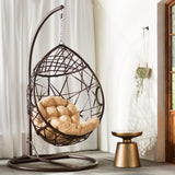 Social Tear Drop PVC Swing Chair With Stand - Clever and Modern Home and office furniture. Pet Furniture