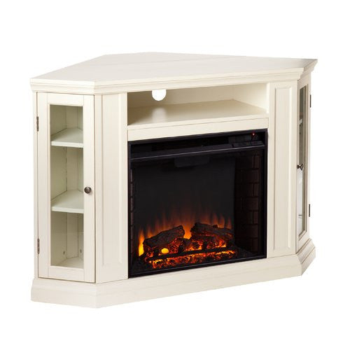 winwood corner media center with electric fireplace clever and modern home and office furniture