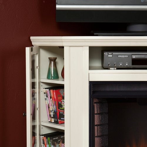 Winwood Corner Media Center With Electric Fireplace - Clever and Modern Home and office furniture. Pet Furniture