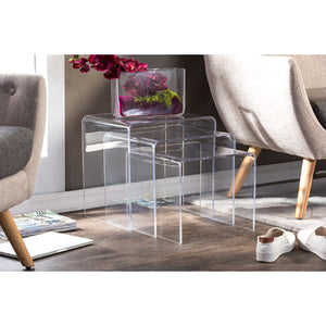 3 Modern Acrylic Nesting Tables   Clever And Modern Home And Office  Furniture. Pet Furniture
