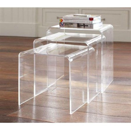 3 Modern Acrylic Nesting Tables - Clever and Modern gadgets and furniture for your home and office.