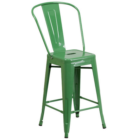 "Colors 24.25"" Bar Stool  (Set of 2)"