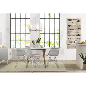 Wood and White Dining Table - Clever and Modern Home and office furniture. Pet Furniture