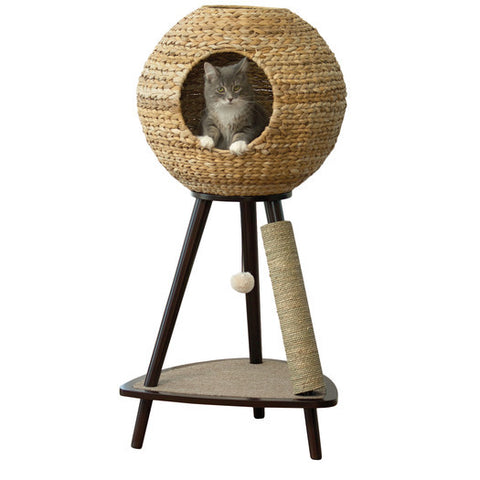 "Modern Scratch Cat Tree 44"" Made of Banana Leaf - Clever and Modern gadgets and furniture for your home and office."