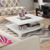 Matched Level Coffee Table In White - Clever and Modern Home and office furniture. Pet Furniture