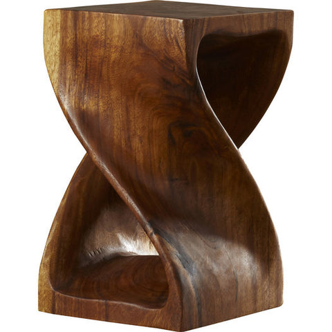 Wooden Twist End Table