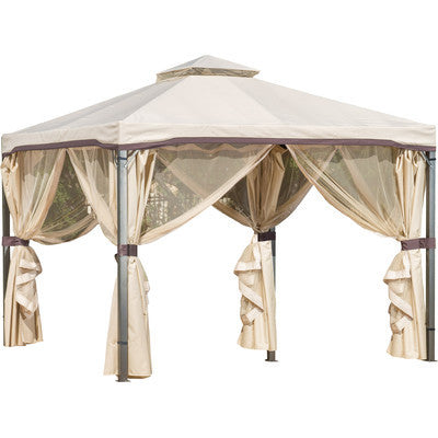 Grey Hight Quality Polyester Gazebo 10 x 10ft - Clever and Modern gadgets and furniture for your home and office.