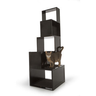 High-Rise Cat Tree With 5 Levels - Clever and Modern Home and office furniture. Pet Furniture