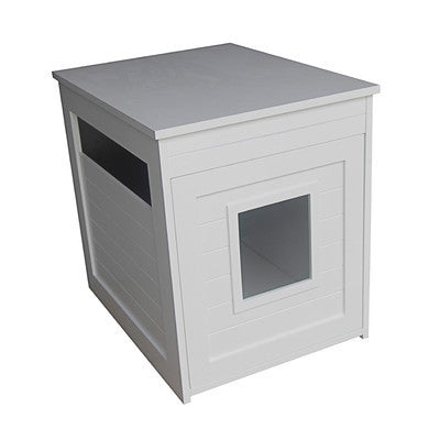 Modern Concealed Cat Litter Box/End Table