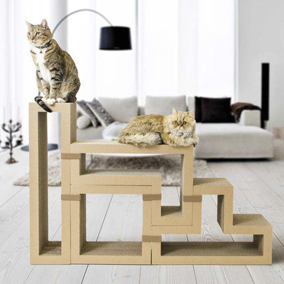 modular adaptive cat climber and book shelf clever and modern home and office furniture - Cat Climber