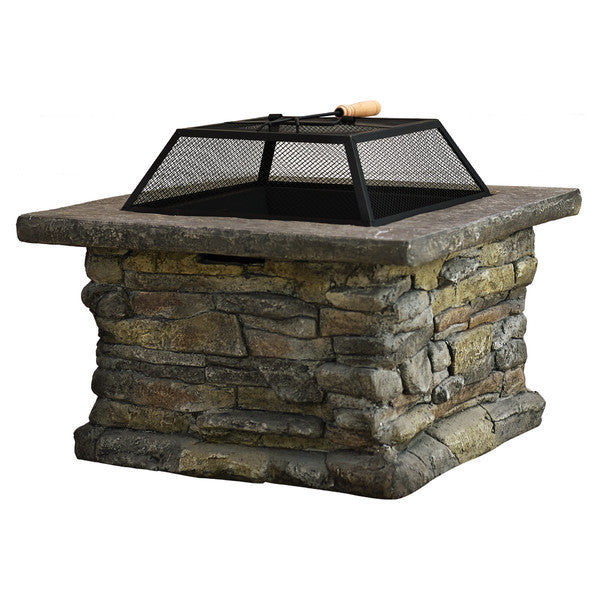 Sara Iron Wood Fire Pit - Clever and Modern Home and office furniture. Pet Furniture