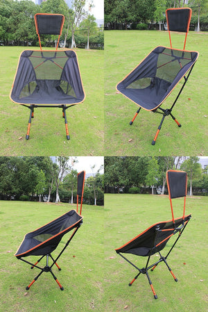 Portable Folding Chair and Headrest for Fishing Camping Hiking Garden Beach with Bag - Clever and Modern Home and office furniture. Pet Furniture