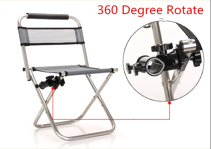 Stainless Steel Multi-functional Folding Fishing Chair with 360 degree Turret