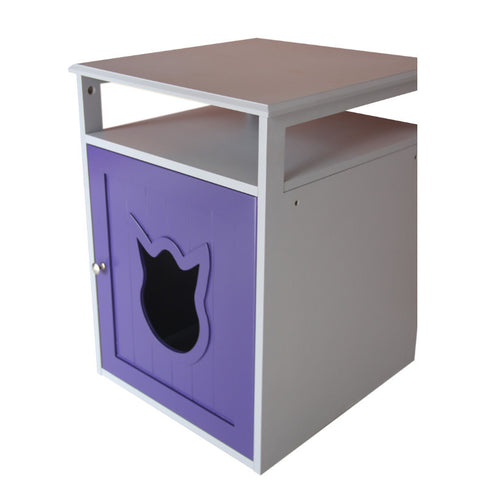 Purple And White Cat Litter Box Furniture - Clever and Modern Home and office furniture. Pet Furniture