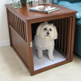 Rubberwood Dog Crate And End Table